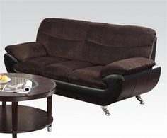 Wilona Black Bonded Leather Pillow Top Arms Sofa