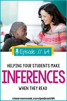 Making an inference while reading is a tricky skill to teach. The Classroom Nook Podcast has all of the teaching tips and strategies you need to teach making an inference to your upper elementary grade students. Listen today to learn some simple, yet effective student-friendly approaches to making an inference while readings. 3rd, 4th, and 5th grade students will benefit from these simple, practical, and intentional instruction methods. Listen today and grab a FREE Inferencing bookmark! New Vocabulary Words, Vocabulary Practice, Reading Comprehension Strategies, Reading Resources, Third Grade Reading, Guided Reading, 3rd Grade Classroom, Reading Response, School Today