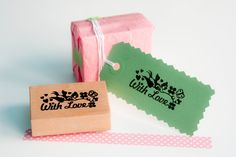 """Rubber Stamp """"With Love"""". €12,95, via Etsy."""