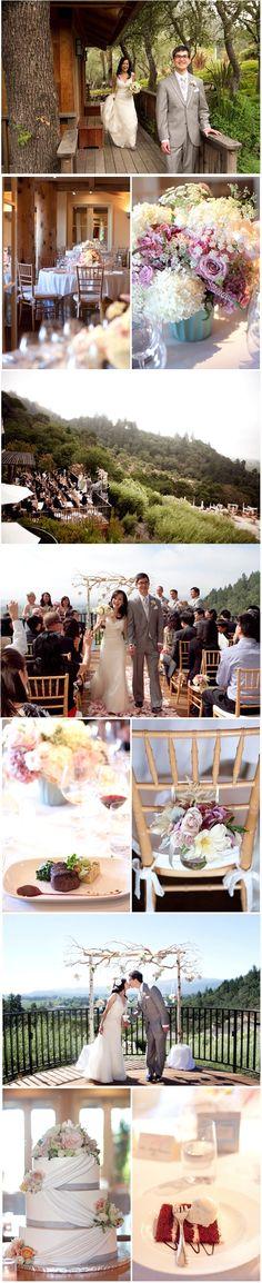 Wedding Collage - Julie Mikos at Auberge du Soleil, Napa Valley - www.aubergedusoleil.com