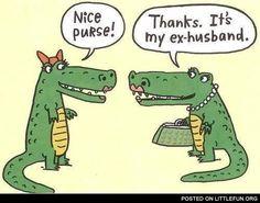 Nice purse! Cartoon Jokes, Funny Cartoons, Funny Comics, Funny Jokes, Hilarious, Mom Jokes, It's Funny, Funny Sayings, Funny Kids