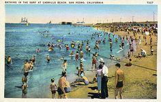 Old San Pedro Cabrillo Beach Postcard.