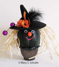 Gourd craft ideas are fun all year round and make great fall craft projects. These whimsical characters take just minutes to make. Great for all ages, including elderly activities. Elderly Crafts, Elderly Activities, Crafts For Seniors, Crafts For Kids To Make, Craft Activities, Senior Crafts, Senior Activities, Easy Halloween Crafts, Fall Crafts