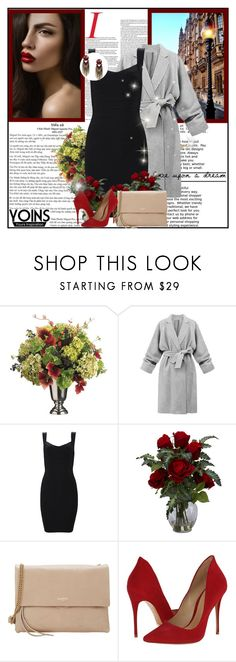 """""""Yoins 7/10"""" by nejra-l ❤ liked on Polyvore featuring Allstate Floral, Nearly Natural, Lanvin and Schutz"""