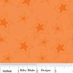 Orange Stars Cotton Fabric, Fox Trails For Riley Blake, Stars Print in Orange,  1 yard. $7.50, via Etsy.