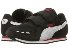 Puma Kids Cabana Racer Mesh V PS (Little Kid/Big Kid) Puma Black/Puma White - Zappos.com Free Shipping BOTH Ways