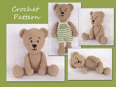 Thursday Handmade Love week 66 Theme: Teddy Bears Includes links to #free #crochet patterns  Amigurumi Pattern Crochet, Amigurumi Bear, Teddy Bear Crochet Pattern, Animal Crochet Pattern via Etsy