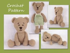 Thursday Handmade Love week 66 Theme: Teddy Bears Includes links to #free #crochet patterns Amigurumi Pattern Crochet, Amigurumi Bear, Teddy Bear Crochet Pattern, Animal Crochet Pattern via Etsy