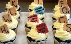 Scrabble cupcakes.