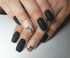 nails one color summer * nails one color ; nails one color simple ; nails one color acrylic ; nails one color winter ; nails one color summer ; nails one color short ; nails one color gel ; nails one color matte Black Nail Designs, Acrylic Nail Designs, Nail Art Designs, Nails Design, Salon Design, Cute Acrylic Nails, Cute Nails, Pretty Nails, Matte Black Nails