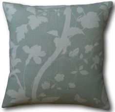 Oriental Garden Eau de Nil Green Cushions Special offer - Whilst stocks last - Surplus to requiremen Green Cushions, Floral Cushions, Velvet Cushions, Cushion Covers Uk, Cushion Cover Designs, Laura Ashley Oriental Garden, Laura Ashley Fabric, Cottage Crafts