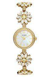 kate spade new york 'daisy chain' bracelet watch, 20mm