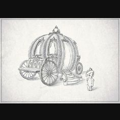 sketch carriage bed for little princesses art drawing artist sketch paper