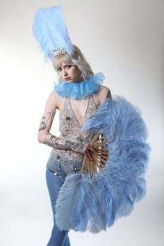 Burlesque Feather Fans  As seen on ITV