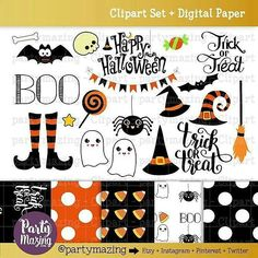 Spooky cute brand new clipart set  Digital Paper  Trick or Treat! You can use the cliparts to create your party decorationsstationery greeting cards party invitations scrapbooking  Personal Use and Personal & Small Commercial Use.  Link to the shop in my Bio. http://ift.tt/1QghbVz  #etsy #etsyseller #plannergirl #partytime #printable #planner #plannergeek  #plannerjunkie #plannergeek #plannergirl #kawaii #planneraddict #clipart #cardmaking #plannercommunity #plannergoodies #scrapbooking…