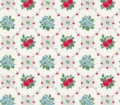 """Vintage 1940s wallpaper reproductions from Bradbury & Bradbury — """"If cuteness were criminal, this paper would be public enemy #1."""" — Retro Renovation"""