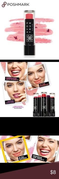 """NWT Lip Balm Goodbye, dry. Hello, hydrating color! Avon True Color Lip Balm... A hint of tint with instant moisture to go! An Avon's lip balm product with an incredible formula that goes beyond basic lip balm. Never waxy, gritty or sticky. Color shade is """"Peach Pout"""". Makeup Lip Balm & Gloss"""