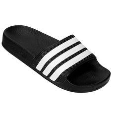 Chinelo Adidas Adilette Juvenil Marinho e Branco   Netshoes