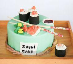 sushi cake Cake by lallabycakes