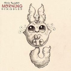 Fluffy n' jumpy #morningscribbles | 출처: CHRIS RYNIAK