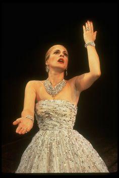 Patti LuPone as Eva Perón in Evita (1980) (photo by Martha Swope)