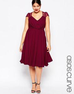 ASOS Curve | ASOS CURVE Kate Lace Midi Dress at ASOS