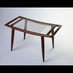 Sam Maloof bench, 1953, Walnut,  17 x 29 1/8 x 15 7/8 in.