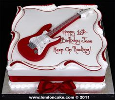 Guitar cake for a teen!