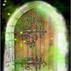 When you see a pretty door, can't you just imagine the magic on the other side?
