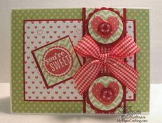 Valentine card using Whoo's Your Valentine Kit Stamp Set. http://www.mypapercrafting.com/2013/01/ctmh113.html