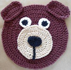 Barnie Bear Crochet Dishcloth