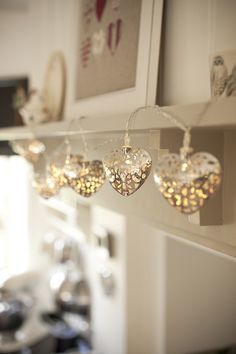 I love these!!! Need to sell in the US... Silver Filigree Heart Fairy Lights from Lights4fun - so cute!