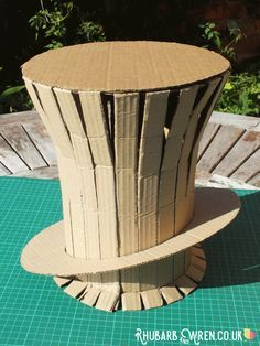 You can use this technique to make a Mad Hatter or Willy Wonka hat, and it'll do for The Cat in the Hat Too...