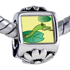 Pugster Bead Jumping Frog Beads Fits Pandora Bracelet Pugster. $12.49. Hole size is approximately 4.8 to 5mm. Unthreaded European story bracelet design. Bracelet sold separately. Fit Pandora, Biagi, and Chamilia Charm Bead Bracelets. It's the photo on the flower charm