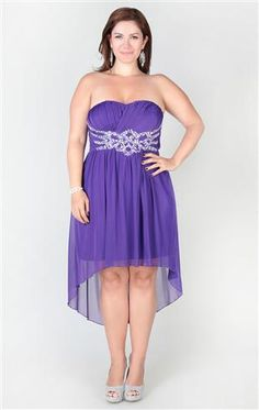 Deb Shops plus size one shoulder #homecoming dress features stone ...