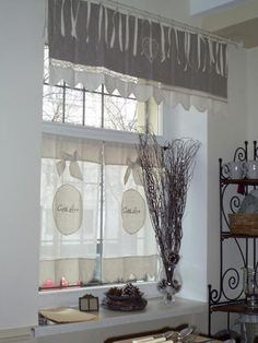 Don't like those curtains but something like this could work for my windows here