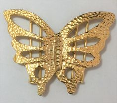 silver or red gold Filigree triple butterfly pick