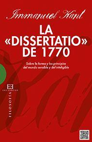 La «Dissertatio» de 1770 - Ediciones Encuentro