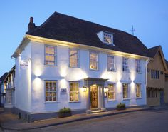 In the centre of historic village of Lavenham, The Great House restaurant and hotel