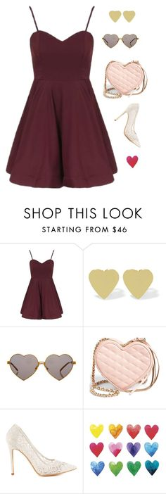 """""""Queen of Hearts"""" by anetacerna ❤ liked on Polyvore featuring Topshop, Jennifer Meyer Jewelry, Wildfox, Rebecca Minkoff and Penny Loves Kenny"""
