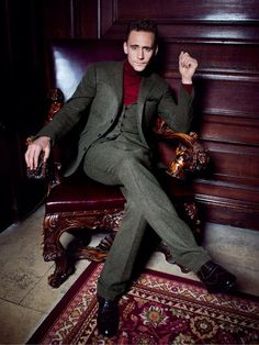 Tom Hiddleston by Dylan Don for GQ UK November 2013. -- a three piece turtle neck? Hmmm. Ok. :)