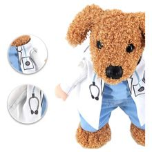 Practical Halloween pet cat dog doctor costume cosplay small medium dog puppy party jacket clothing dog clothes for Pitbull S-XL(China)