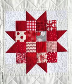 detail, Uppsula Stars quilt pattern at Pink Doxies