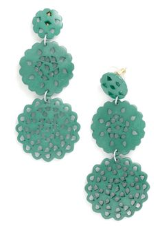 Doily Routine Earrings in Turquoise, #ModCloth