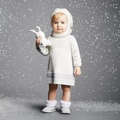 JANIE & JACK Darling for winter celebrations, our cozy sweater dress is accented with a pretty floral Fair Isle pattern and textured knit patterns. Plush faux fur trim completes the charming style. | Shared from janieandjack.com