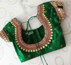 Gorgeous Blouses In Every Shade To Go With Your Sarees! Saree Jacket Designs, Cutwork Blouse Designs, Patch Work Blouse Designs, Maggam Work Designs, Hand Work Blouse Design, Simple Blouse Designs, Stylish Blouse Design, Bridal Blouse Designs, Blouse Neck Designs