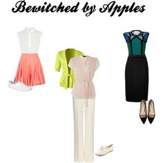 Outfits inspired by the movie Bewitched for Apple Shaped Women.