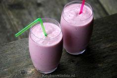 Romige smoothie met kwark en frambozen - Keuken♥Liefde