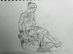 croquis crayon au musée du Louvre 28 09 2015