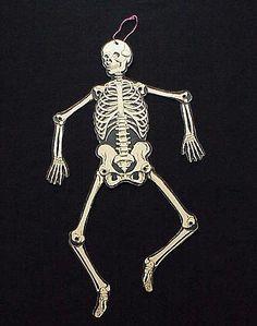 Vintage Halloween Skeleton Decoration By Beistle 1940s